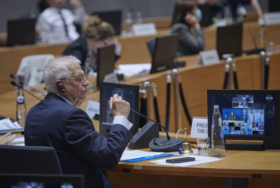 EU:n ulkoasioiden ja turvallisuuspolitiikan korkea edustaja Josep Borrell johtaa ministerikokousta.