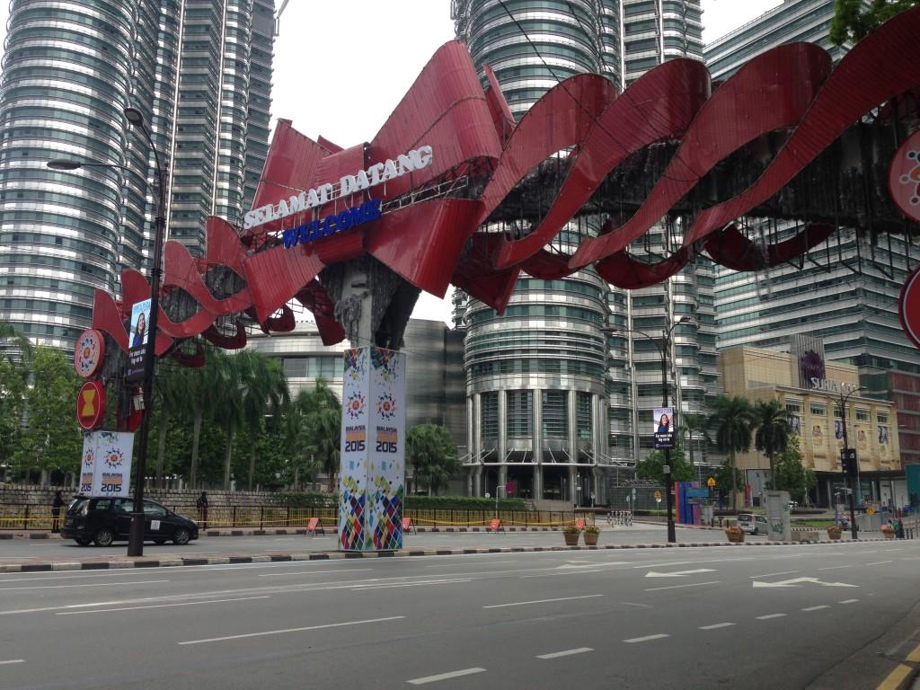 Huippukokous tyhjensi Kuala Lumpurin kadut. Kuva: Martta Rissanen.