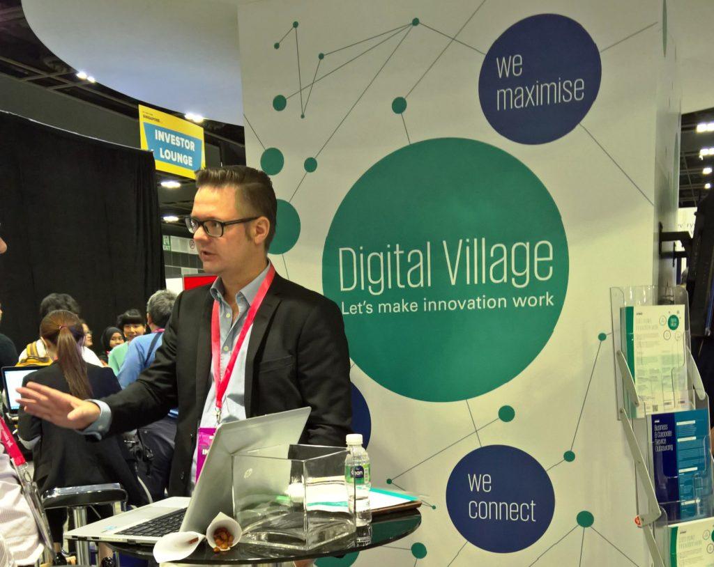 KPMG Singaporen Virtual Village yhdistää globaalisti startuppien tarjoamia ratkaisuja isojen yritysten tarpeisiin. Kuva: Riku Mäkelä.