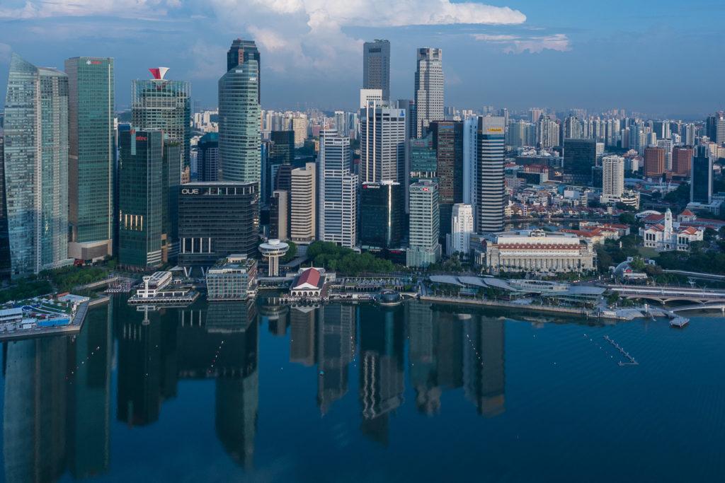 Singapore on tunnettu korkeista rakennuksistaan. Kuva: Riku Mäkelä