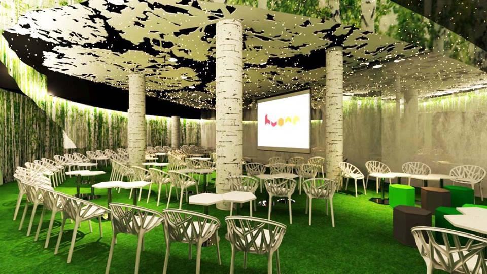 Metsä kutsuu tapaamisiin. Kuva: Huone Singapore.