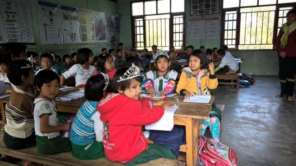 Suomi tukee Myanmarissa opetuksen kehittämistä. Kuvassa harjoittelukoulu Mandalayssa. Kuva: Silja Rajander