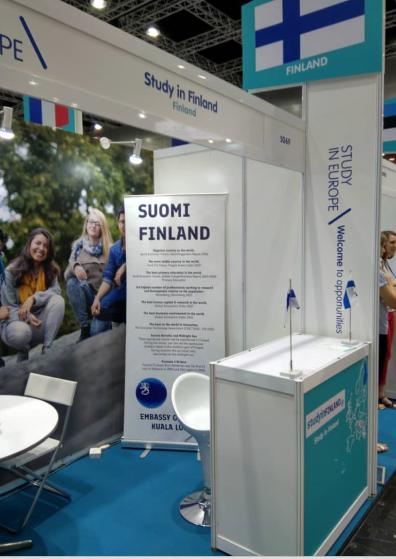 Suomi edusti Opetushallituksen alaisen Study in Finland -brändin alla. Kuva: Saara Harju.