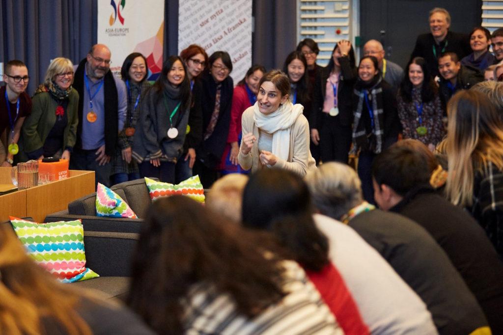 Iso ryhmä koulutusalan ammattilaisia tutustui viime vuonna Suomen osaamiseen. Kuva: Asia Europe Foundation (ASEF).