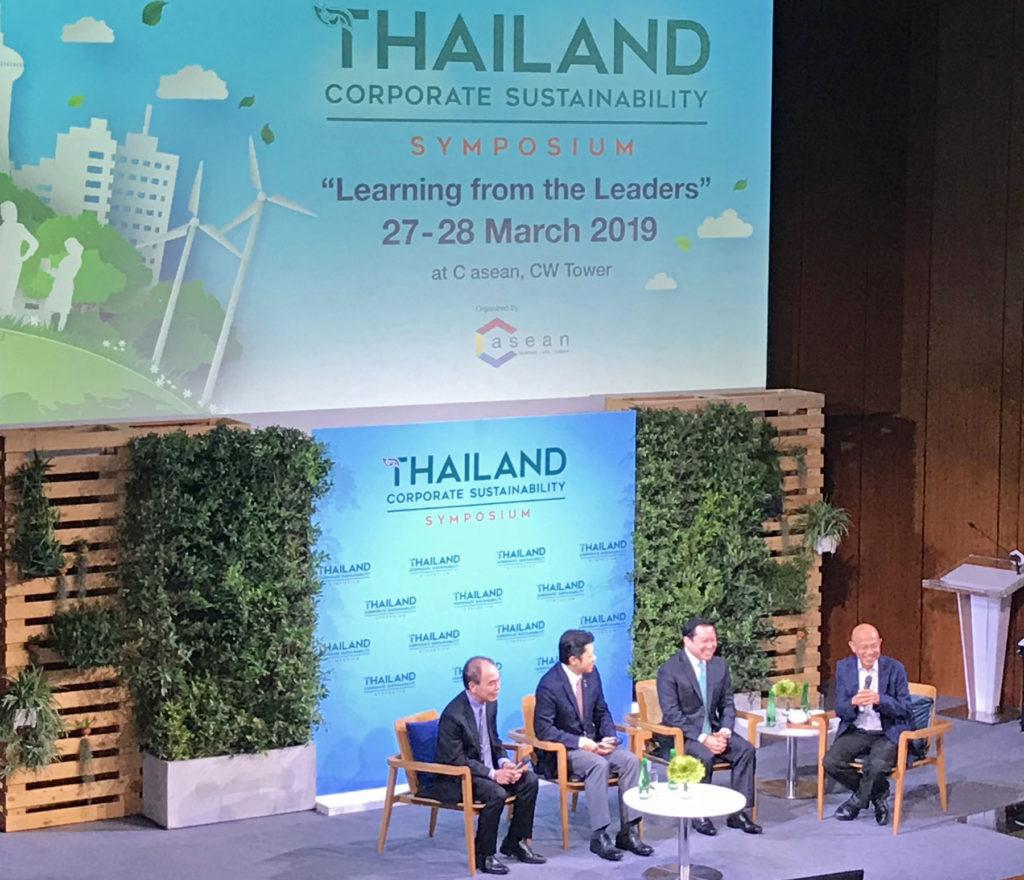 Thailand Sustainability Symposium kokosi yhteen Thaimaan suurimpien yritysten toimitusjohtajia maaliskuun lopussa kertomaan vastuullisuuskäytännöistään. Kuva: Leeni Toivanen.