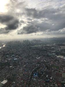 Lentokoneesta otettu kuva Manilasta.