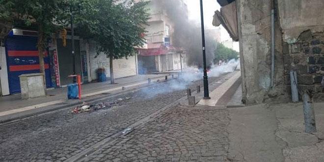 Katunäkymä Diyarbakırin kaupungista.