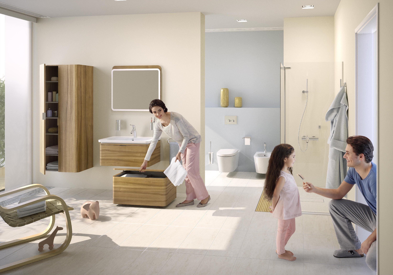 Suomalainen Pentagon Design on suunnitellut VitrA:lle Nest Collection-kylpyhuoneratkaisun