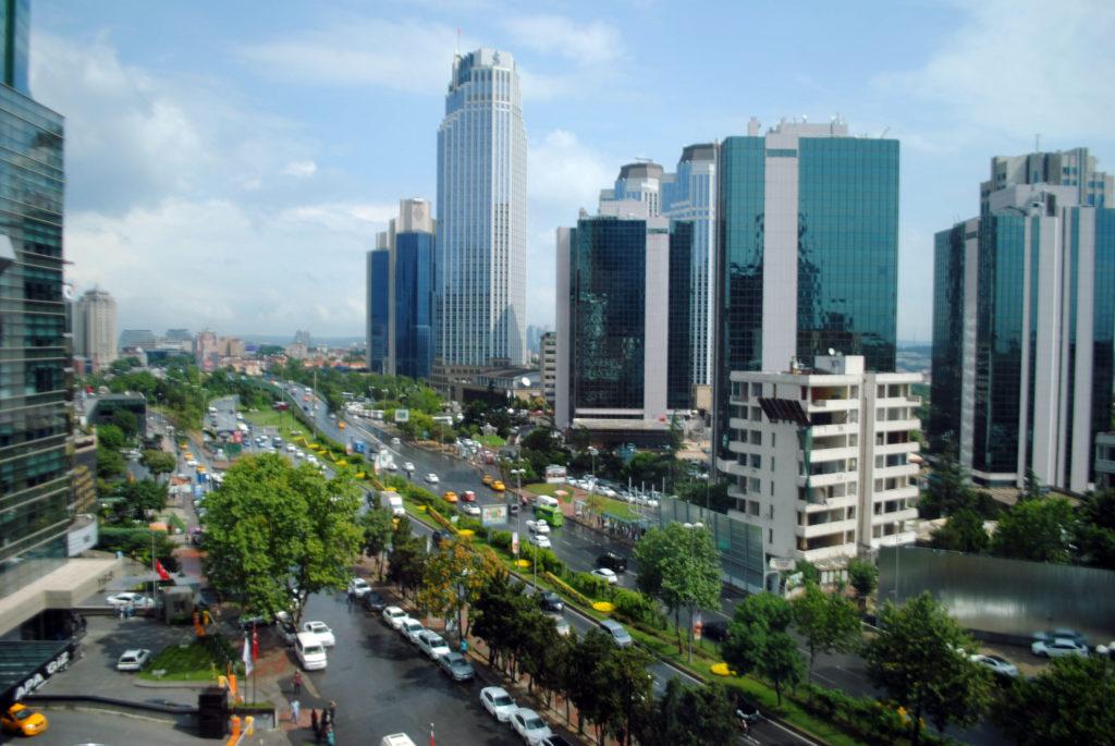Leventin kaupunginosa Istanbulissa on Turkin tärkeä rahoitusalan keskus.