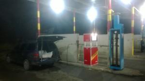 Armenialainen bensa-asema lähellä rajaa