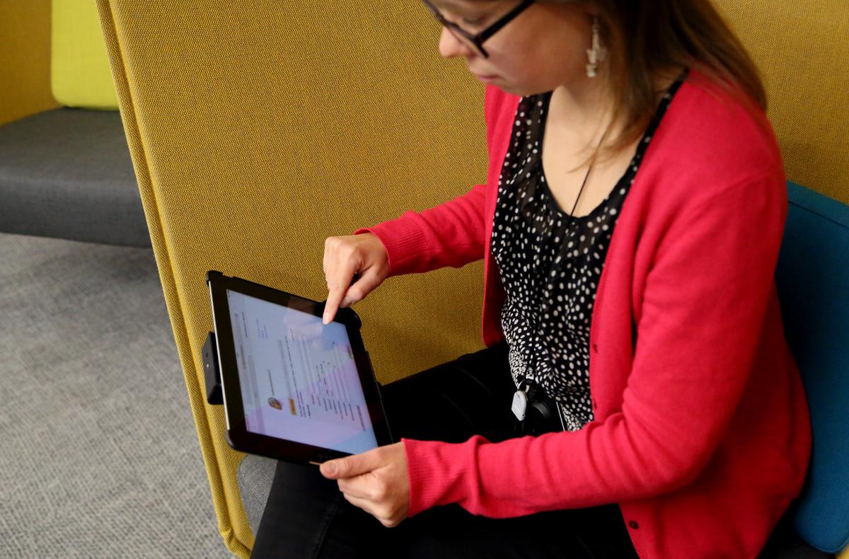 Matkustusilmoituksen teko on helppoa myös mobiililaitteilla. Kuva: Marja-Leena Kultanen