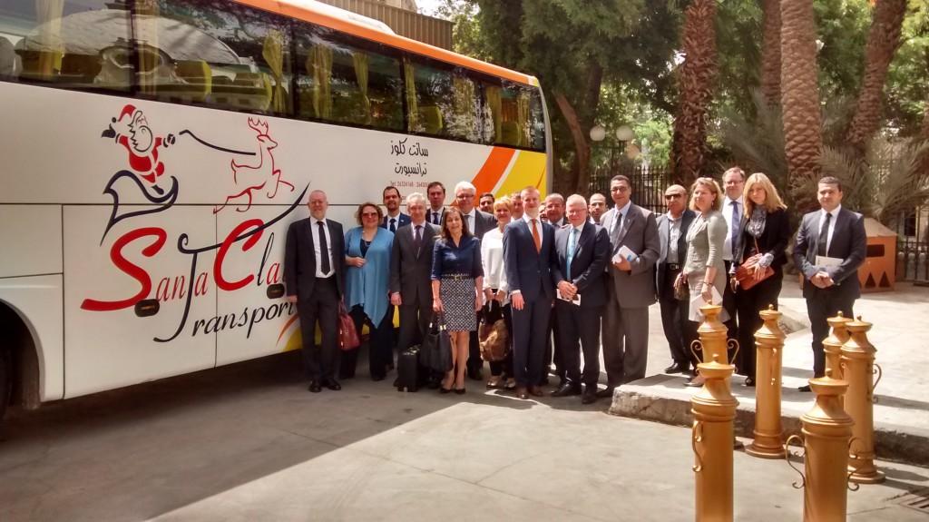 17 yrityksen suomalaisdelegaatio vieraili Egyptissä kesäkuussa 2015