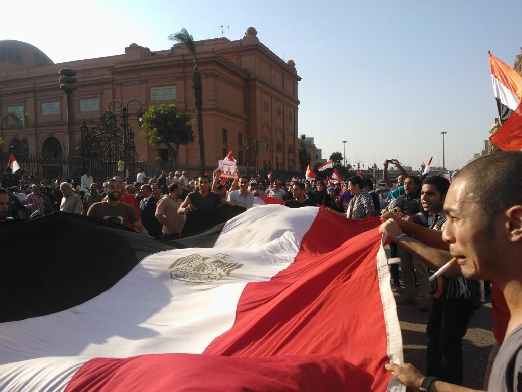 Egyptiläiset lähtuvät massoittain kaduille 30. kesäkuuta 2013.