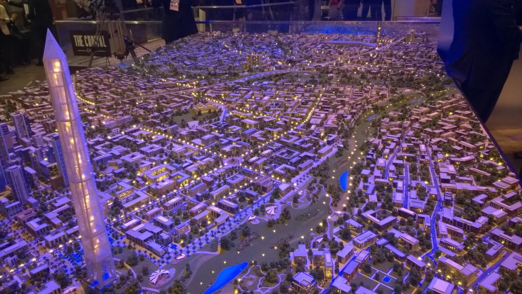 """""""uuden pääkaupungin"""" pienoismalli esiteltiin maaliskuisessa investointokonferenssissa ensi kertaa"""