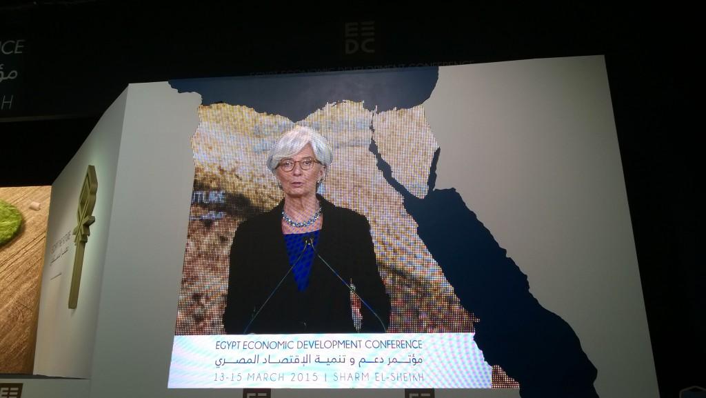 Maaliskuiseeen investointikonferenssiin osallistui korkean tason kv. tason edustajia, mm. IMF:n pääjohtaja Christine Lagarde. Kenties lainasopimus mielessä?
