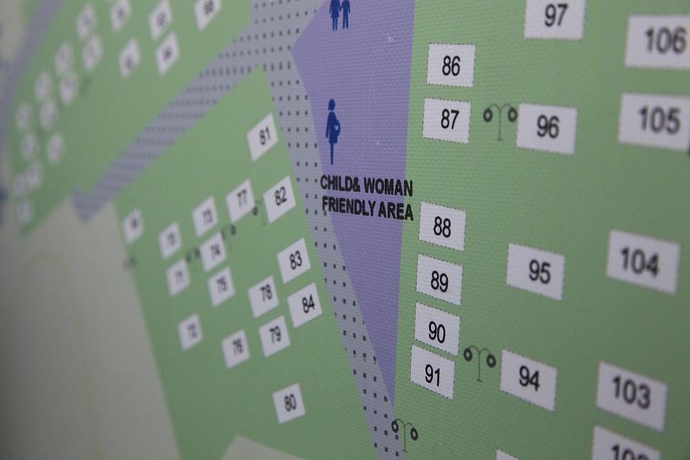 Monelle jo EU-alueelle pääseminen symbolisoi turvaa. Kuva Kara Tepen pakolaisleirin kartasta