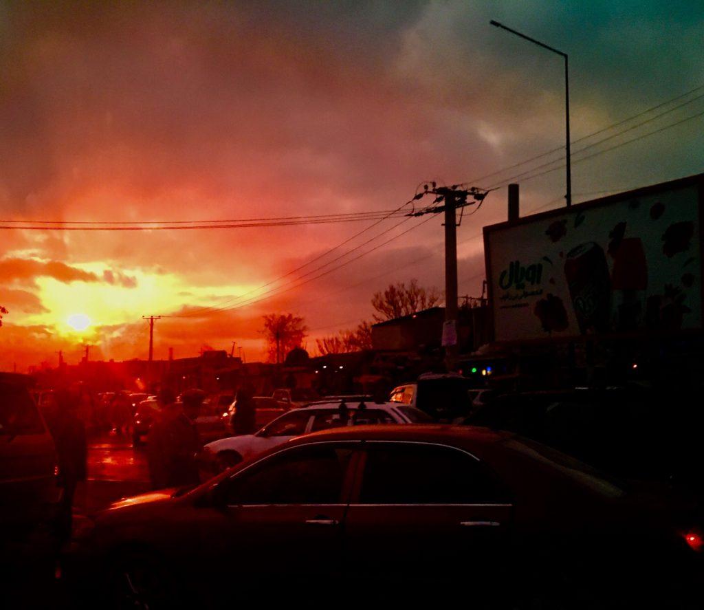 Kabulin aamuliikennettä. Kuva: Johanna Jokinen-Gavidia