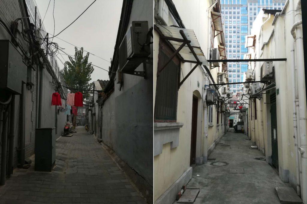 Peking ja Shanghai ovat molemmat miljoonille ihmisille rakkaita kotikaupunkia. Pihanäkymät kahdesta kaupungista osoittavat, kuinka erilaisuudestaan huolimatta on myös jonkin verran samankaltaisuutta.