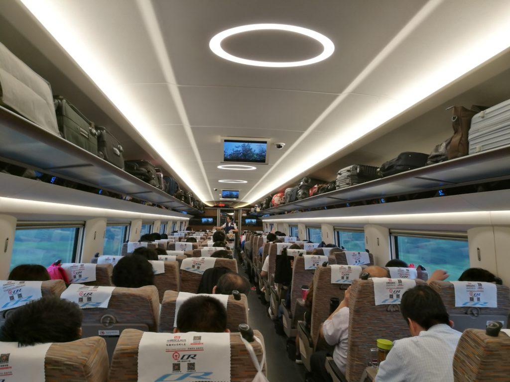 """""""Voimistuminen""""-luokan junat ovat uusia tulokkaita Kiinan raideliikenteessä. Kuva: Ari-Joonas Pitkänen"""