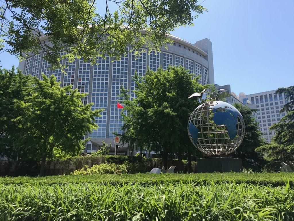 Poliittisen raportoijan tie vie usein Kiinan ulkoministeriöön Pekingissä. Päärakennus avattiin 1954. Kuva: Emmi Oikari.