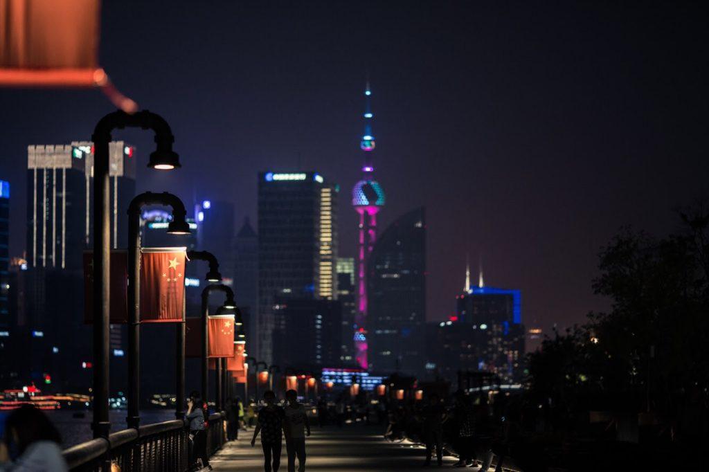 Paikallisilla ei ollut luottoa Pudongin alueen menestykseen sen rakennushetkellä. Nykyään Pudong on Shanghain liike-elämän keskus. Kuva: Aino Röyskö.