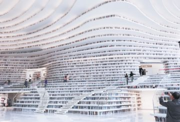 Tianjinin Binhai-alueelle rakennettua kirjastoa on kuvattu kirjojen rakastajan taivaana useamman mediajulkaisun sivuilla. Totuus on hieman toisenlainen. Kuva: Aino Röyskö.