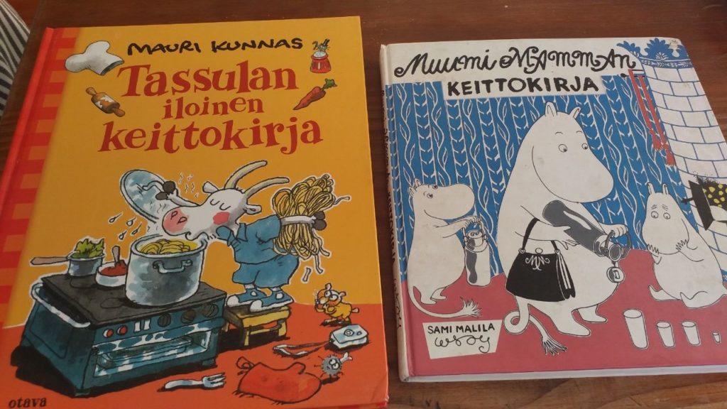 Suomalaiset keittokirjat herättivät ihastusta. Kuva: Hanna Kumpusalo-Tyukalov.