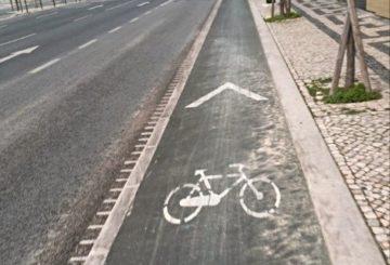 Hätätilan aikaan sai pyöräillä harvinaisen hiljaisessa Lissabonissa. Kuva: Juuli Kärkinen