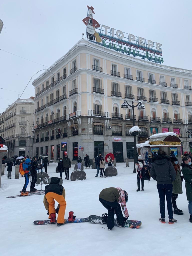 Lumiriehaa Madridissa. Kuva: Akseli Peltola