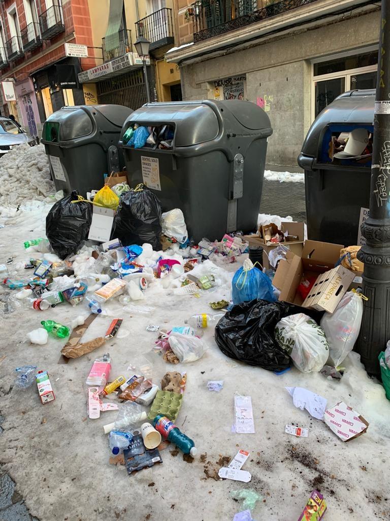 Jätehuolto keskeytyi Filomenan vuoksi monen päivän ajaksi. Kuva: Akseli Peltola