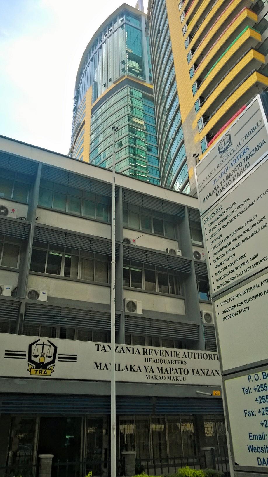 Tansanian verokarhun päämaja Dar es Salaamissa