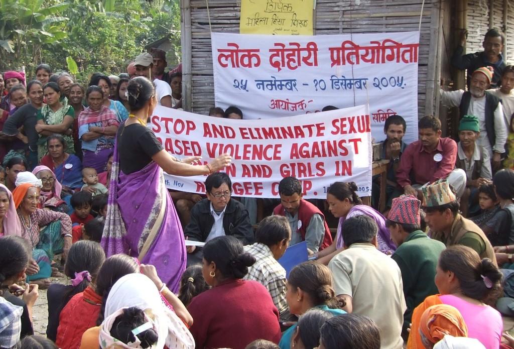Kansalaisjärjestötoimintaa kymmenen vuoden takaa Pokharan alueella.