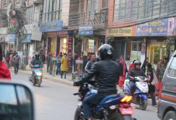Katuvilinää Kathmandussa marraskuussa 2019. Kuva: Hanna Päivärinta/UM