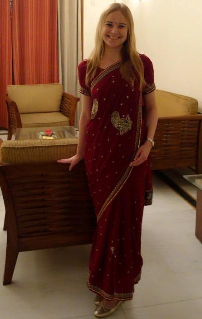 Valmiina Diwali-juhlaan. Kuva: Susanna Lindholm