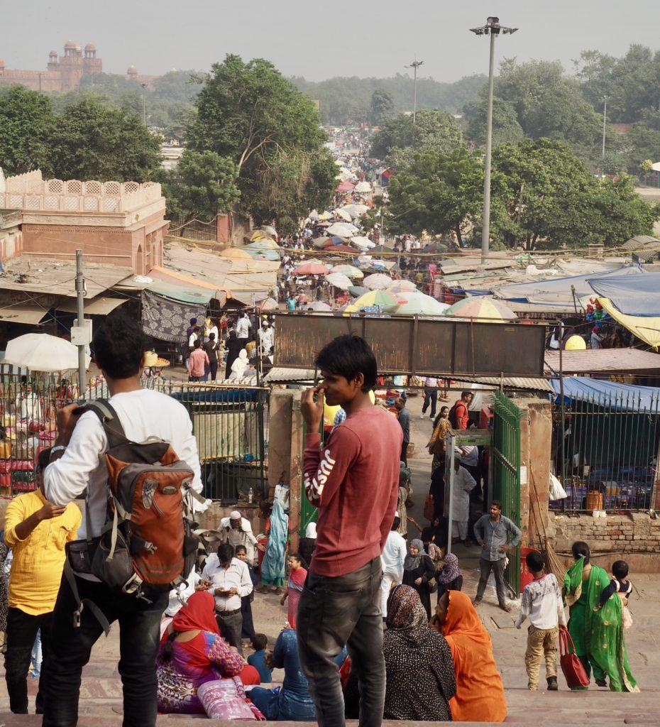 Intiassa on vaikea välttää ihmispaljoutta. Kuva: Saana Annala.