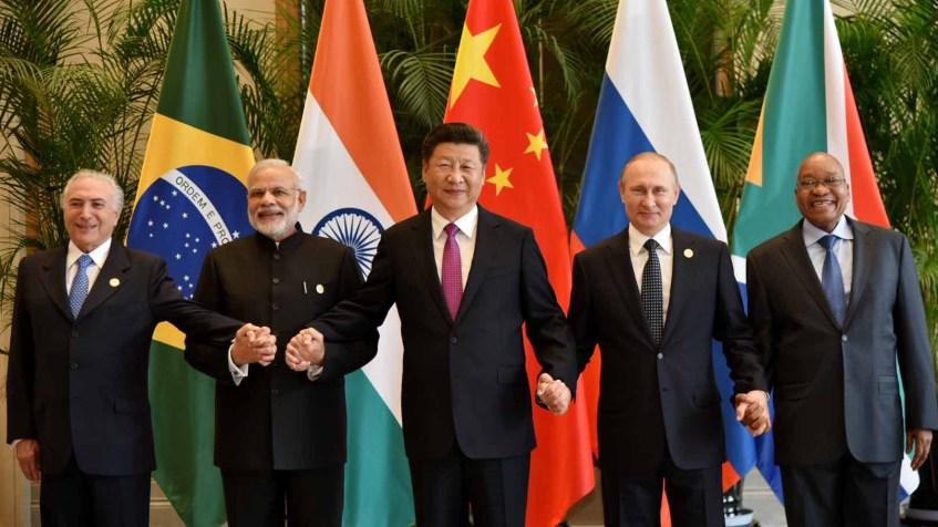 BRICS-maiden johtajat koolla vuonna 2016. Kuva: Flickr/Narendra Modi.