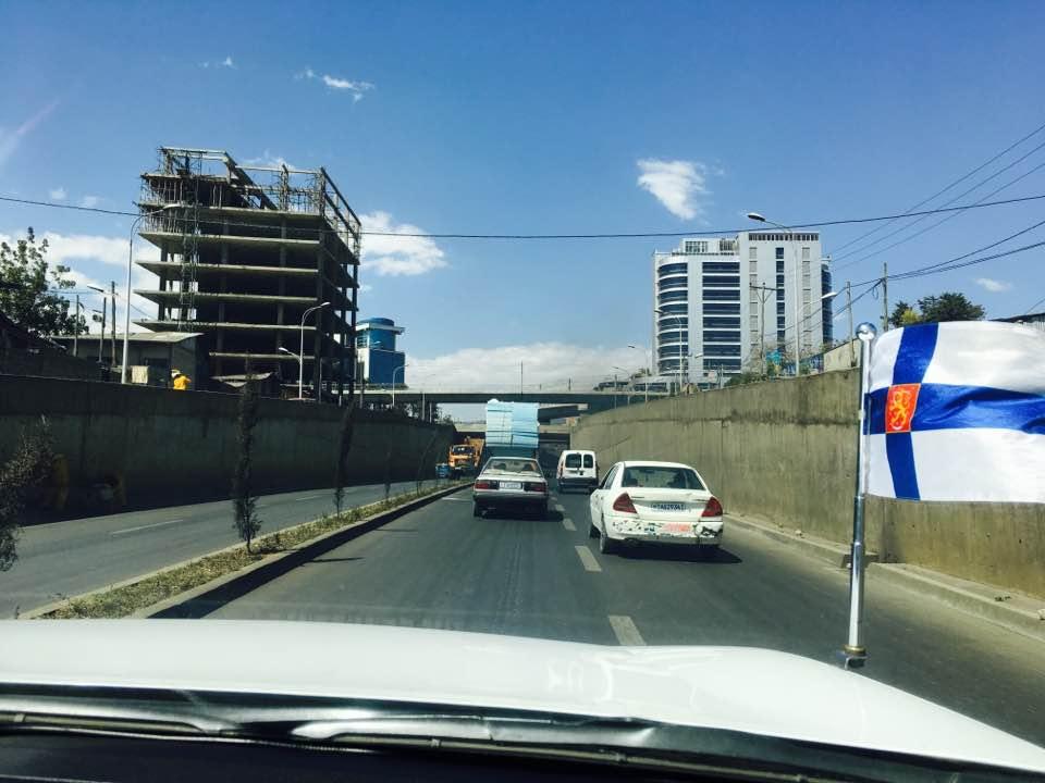 Addis Abebassa rakennustyömaita on joka puolella. Kuva: Matti Karvanen