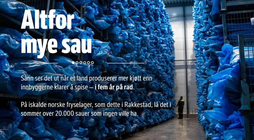 Kuvakaappaus NRK:n ruokahävikkiä käsittelevästä artikkelista.