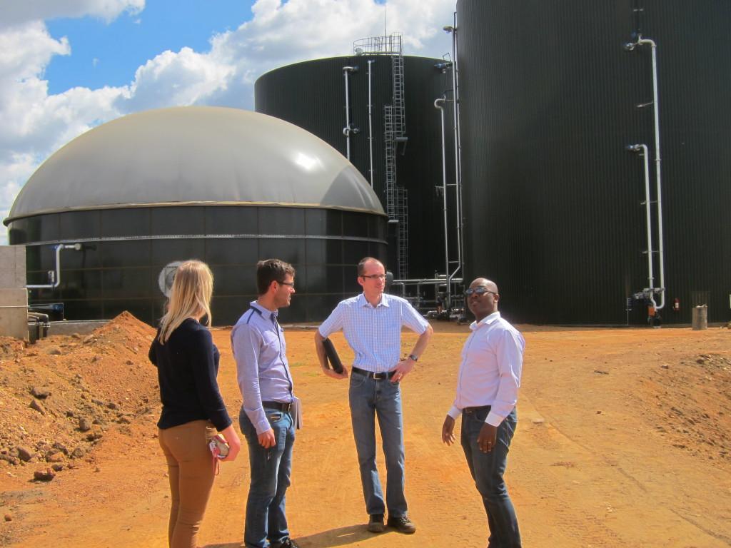 Pretorian lähellä sijaitseva Bronkhorstspruitin biokaasuvoimala, jonka rakentamiseen on saatu tukea EEP-ohjelmasta. Kuva Modikoe Patjane