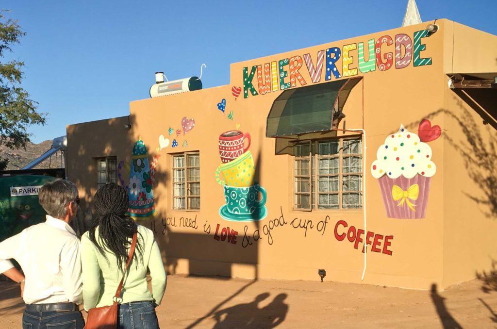 Yksi Namaqualandin ihmeellisistä kahviloista. Kuva: Deon Pienaar.