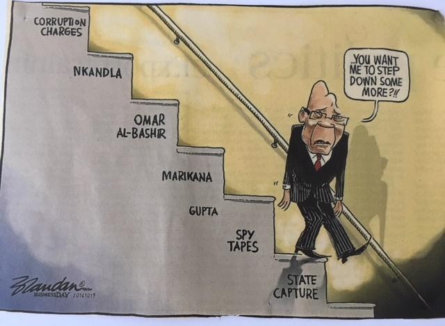 Ei päivää ilman presidenttiä koskevia uutisia ja uusia paljastuksia hänen korruptoituneesta toiminnastaan. Kuva: Anu Saxén