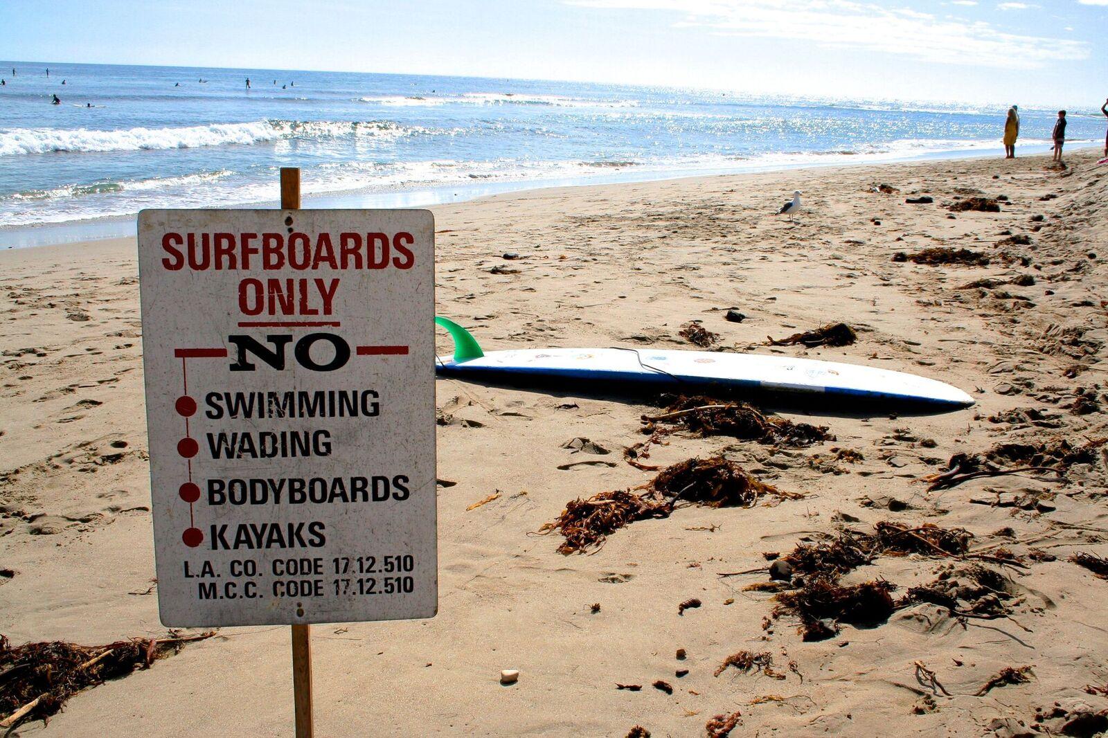 Monet rannat on suunnattu yhdelle Kalifornian suosituimmista urheilulajeista - surffaukselle. Kuva: Jussi Salonen