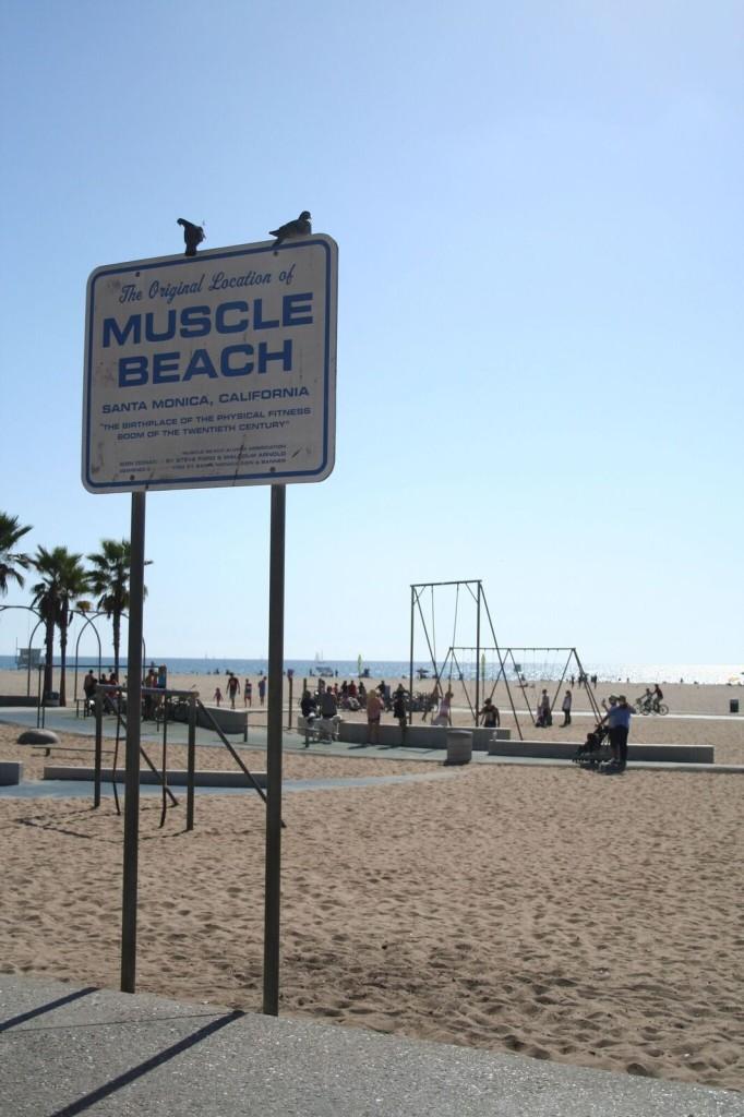 """Santa Monican """"Muscle Beach"""" on nykyisen fitnessbuumin alkulähde ja syntysija. Kuva: Jussi Salonen"""