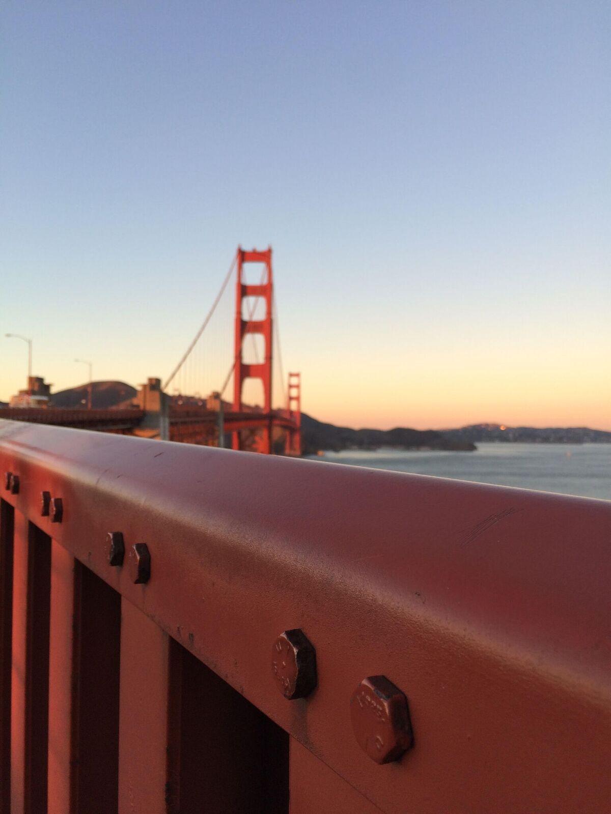 Pohjois-Kalifornian symboli, San Franciscon Golden Gate -silta on aina yhtä lumoava. Kuva: Jussi Salonen