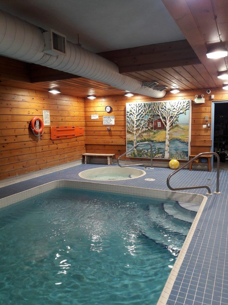 Uima- ja porealtaiden lisäksi Suomi-Kodissa on tietenkin sauna. Kuva: Emilia Karvinen.