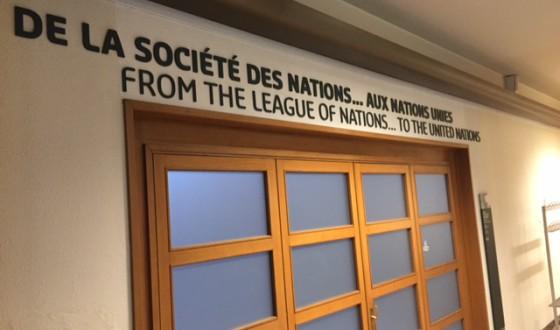 Remontissa olevan Kansainliitto-museon sisäänkäynti.