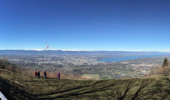 Näkymä Salève-vuorelta kohti Geneveä.