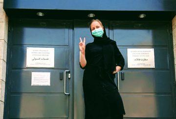 COVID-19-epidemia näkyy Teheranin katukuvassa muun muassa kasvomaskien muodossa ja niiden käyttöä edellytetään julkisissa tiloissa.