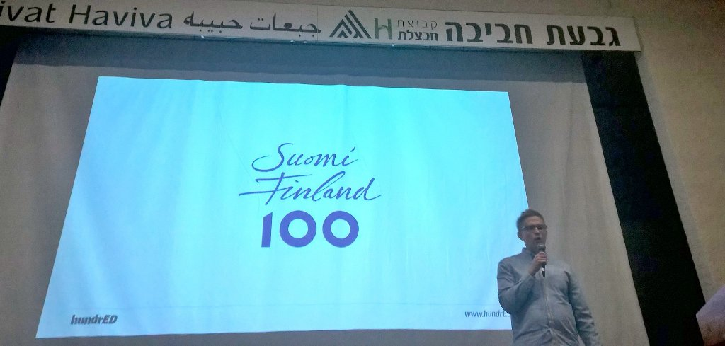 Lasse Leponiemi Conference for Educational Innovation -tapahtumassa Haderassa. Kuva: Maria Tuomela