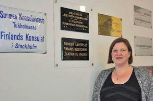 Minna Niemi är administrativ attaché på konsulatet vid Finlands ambassad i Stockholm.